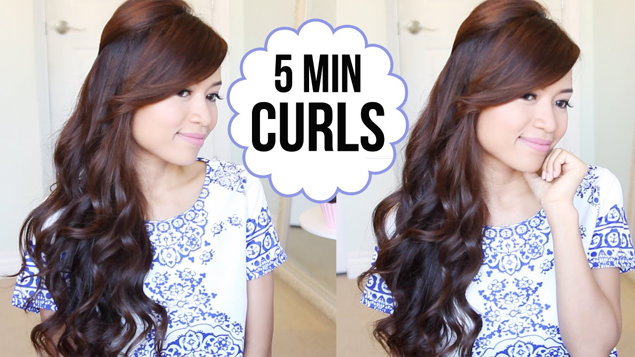 how to style short hair with curling iron hairstyle how to curl your hair in 5 minutes 7125 | maxresdefault