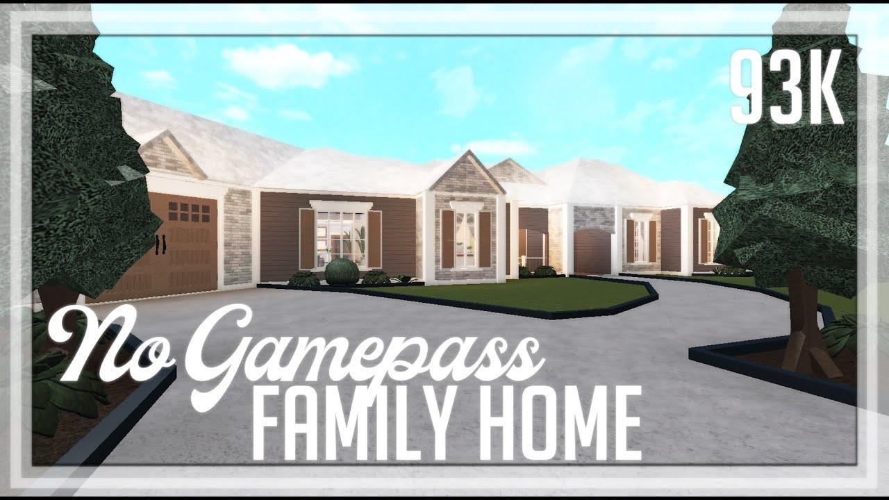Roblox 93k No Gamepass Suburban Family Home Speedbuild Tour