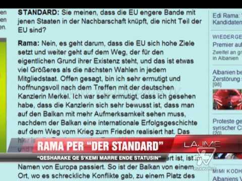 """Rama, intervistë për """"Der standard"""" - News, Lajme - Vizion Plus"""