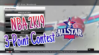 How To Do A 3 Point Contest In NBA 2K19 Tutorial | (Applies To All NBA 2K's)