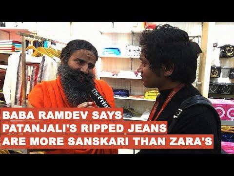 Baba Ramdev says Patanjali's ripped jeans are more sanskari than Zara's