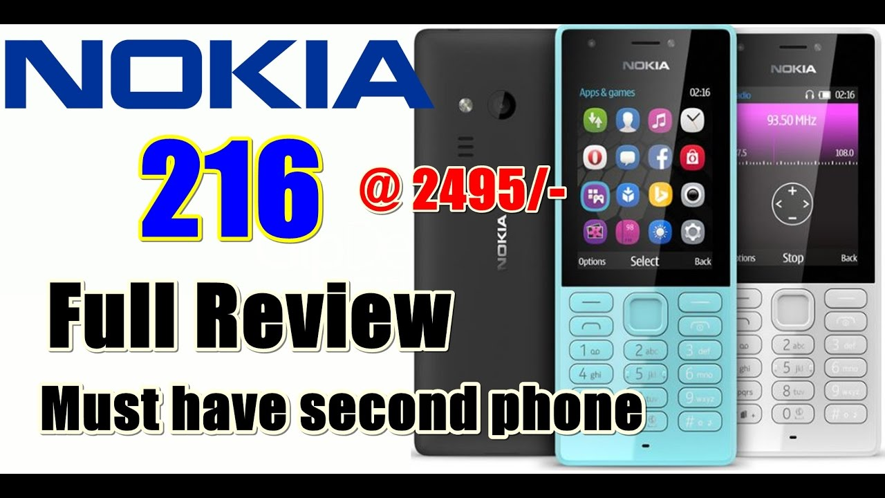 NOKIA 216 Featured Phone Full Review
