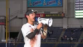 松永投手が100ホールドを達成!そして試合は清田選手のサヨナラ犠飛で勝...