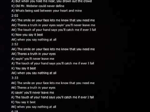 Ronan Keating - When You Say Nothing At All - YouTube
