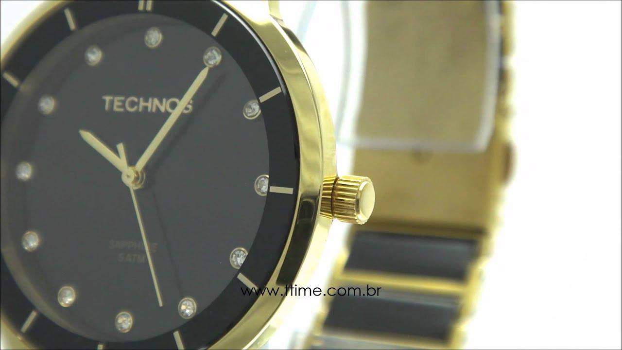 Relógio Technos Ceramic Sapphire 2036LMO 4P - YouTube e45f77e275