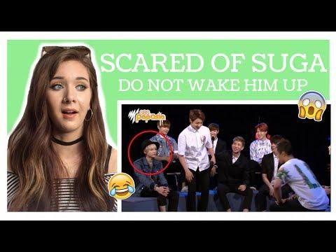 BTS ARE LOW-KEY SCARED OF SUGA REACTION // ItsGeorginaOkay