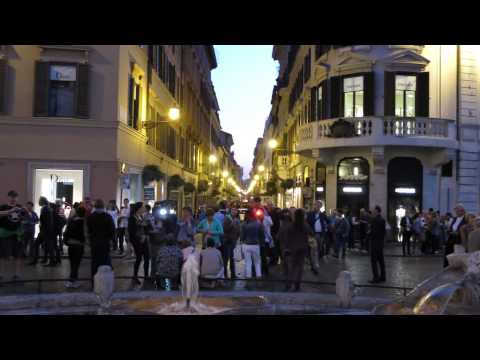 Rome Tour--Rick Steves' Evening Walk and Dinner at Le Mani in Pasta