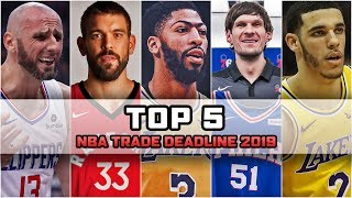 TOP 5 NBA TRADE DEADLINE 2019 ► NBA po POLSKU
