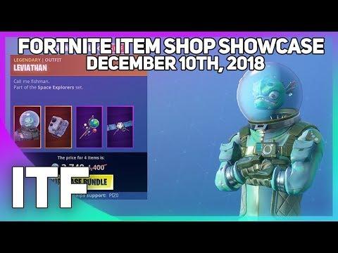 Fortnite Item Shop *NEW* LEVIATHAN BUNDLE! [December 10th, 2018] (Fortnite Battle Royale)