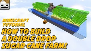 Minecraft Tutorial 1.12 How To Build A Lossless, Fully Automatic, Double Drop Sugar Cane Farm