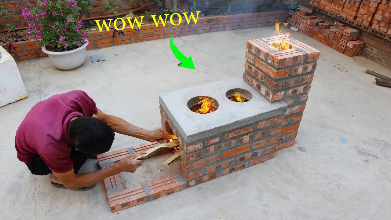 Build stove new style \ Saving firewood