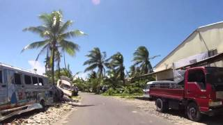 Видео Tuvalu Funafuti Route vers le côté Nord, Gopro / Tuvalu Funafuti Road to North coast, Gopro от hors frontieres, Фунафути, Тувалу