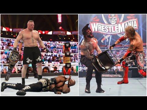 Brock Lesnar WINS WWE Title & Edge WINS Universal Title At WRESTLEMANIA 37 ?