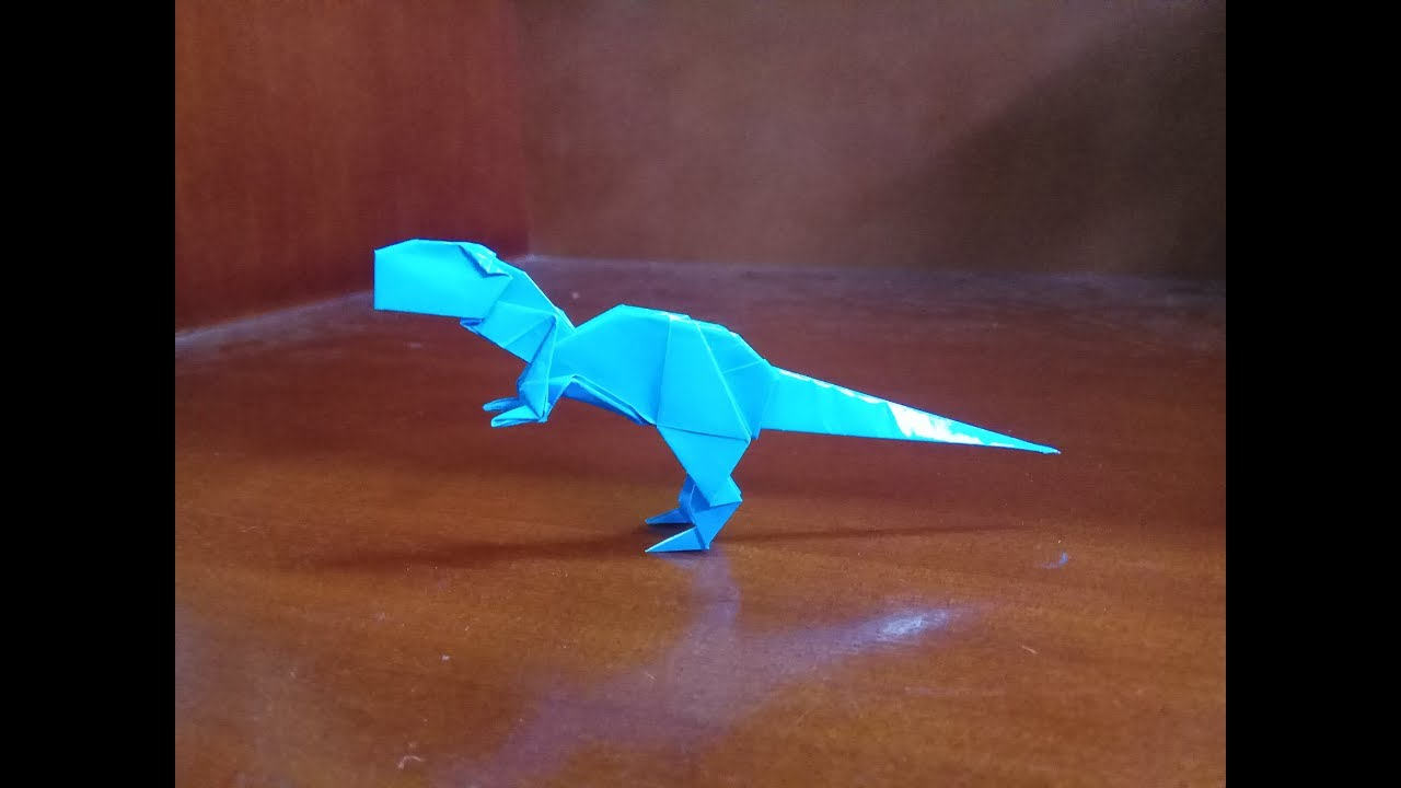 How To Make a Paper Dinosaur Velociraptor Easy Origami - YouTube | 720x1280