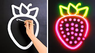 How to Draw GLOW Effect || Easy Painting Ideas For Your Home