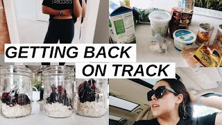 GETTING MY HEALTH BACK ON TRACK | trying meal prep, grocery haul, beginning to workout
