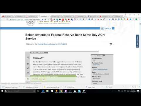 federal register enhancements to frb same day ach services