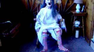 Life Size Rocking Granny Halloween Prop w/ Motion NEW