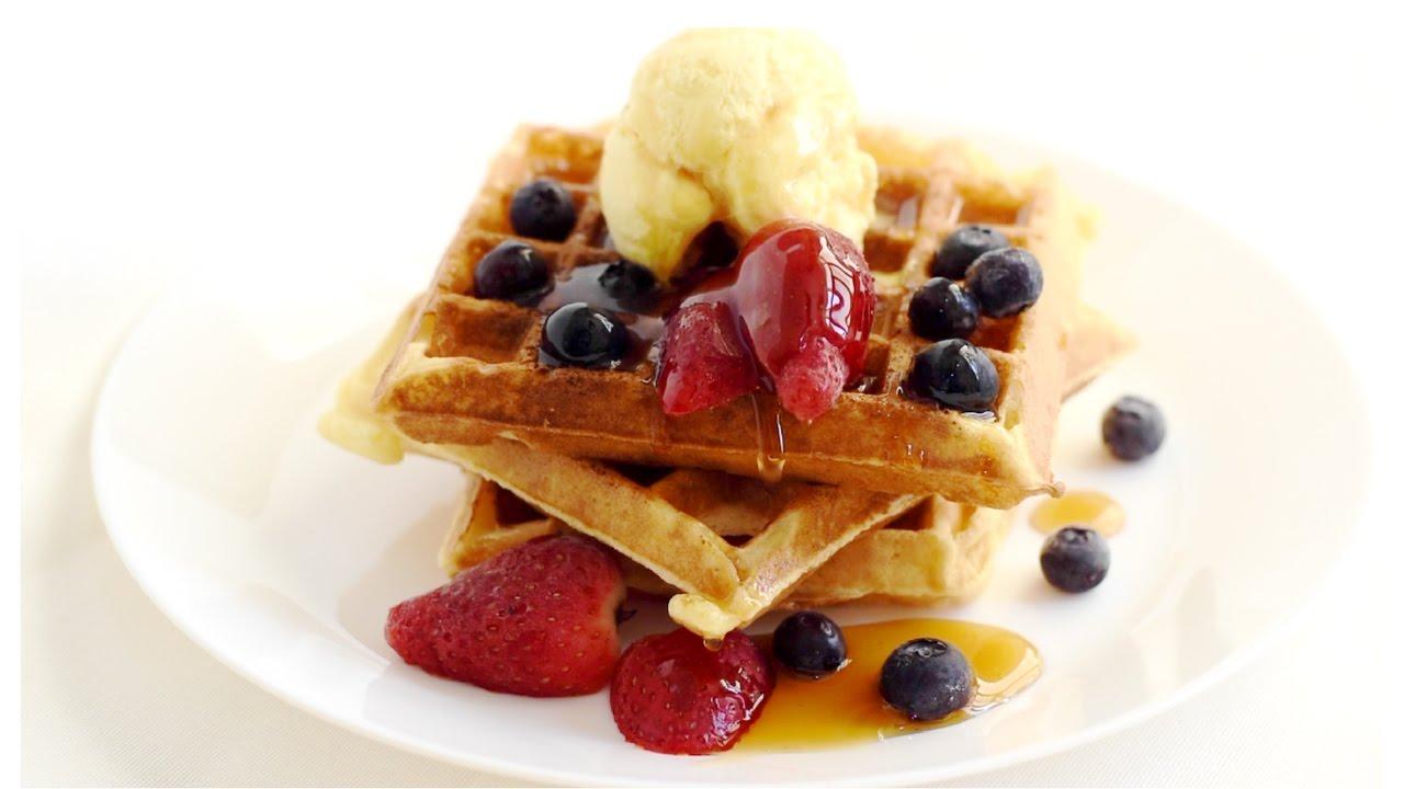 Easy Homemade Waffles Recipe/How to make waffles at home. - YouTube