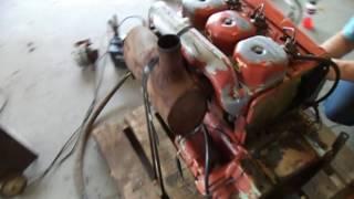Deutz 3 cyl diesel engine test video