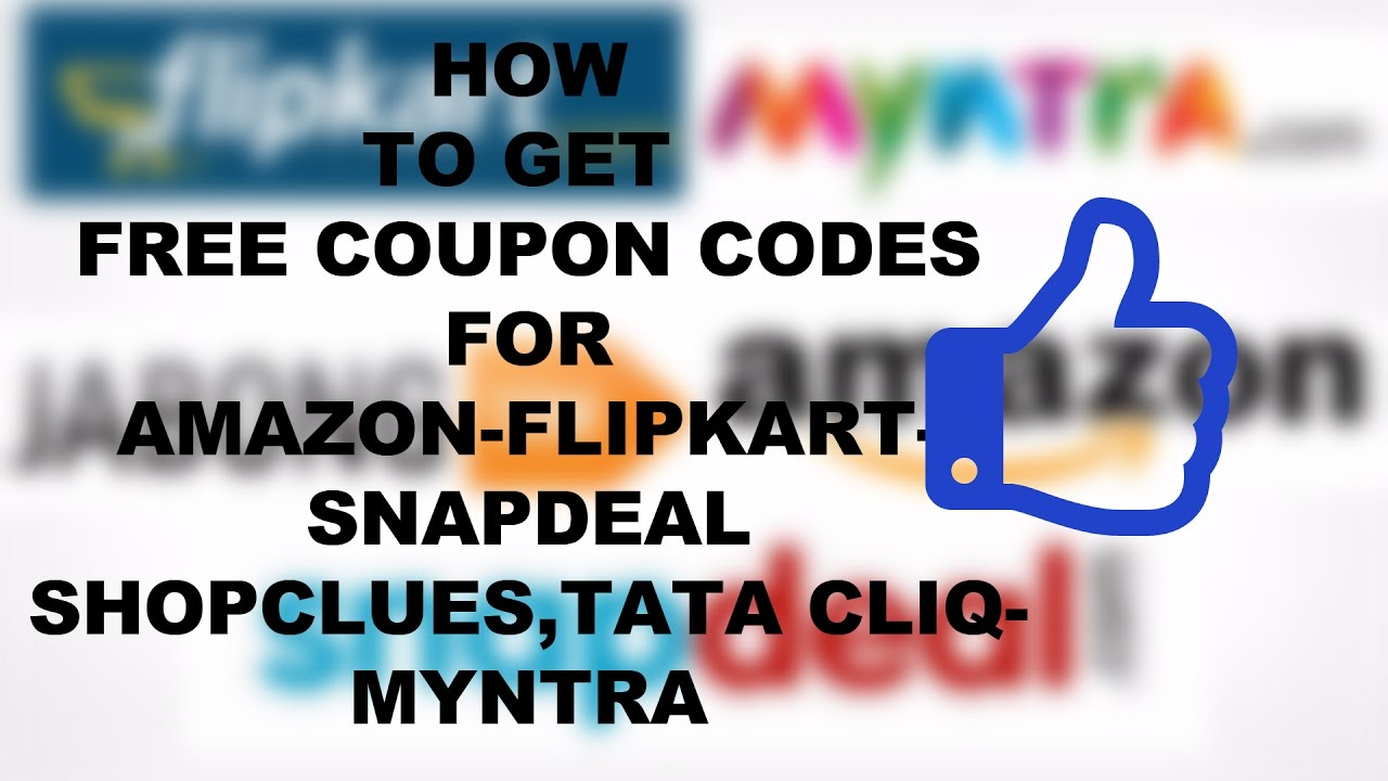 b948d24a9ff How To Get Free Coupon Code For Amazon Flipkart Snapdeal (HINDI)(EASY TIPS)  - YouTube