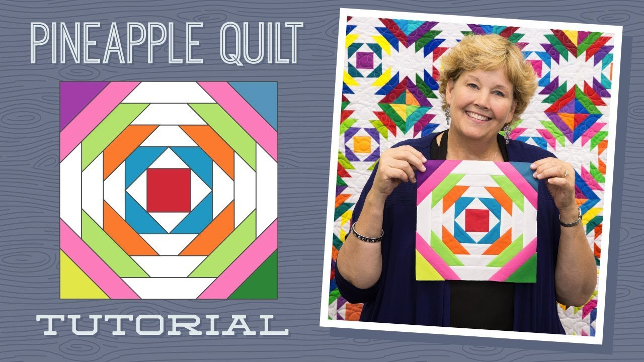 Make A Pineapple Quilt With Jenny Youtube