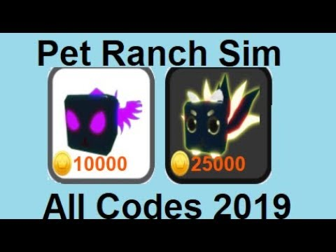 2 NEW CODES IN PET RANCH SIMULATOR ROBLOX!!!! MARCH 2019
