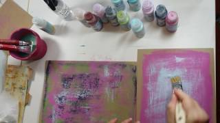 Mixed Media  - PaperArtsy Fresco Paint Affects - Seth Apter by designer Erica Evans