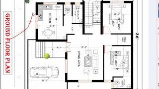 36x40 feet best house plan