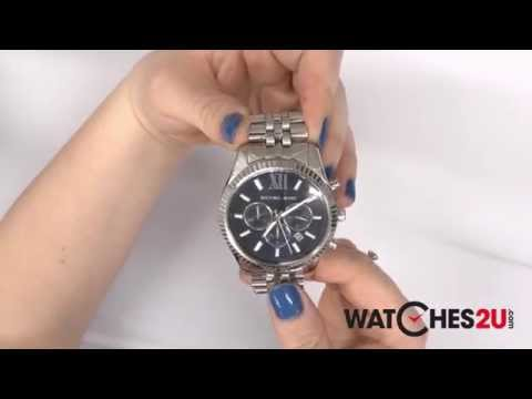 0e3def4f6 MK8280 Michael Kors Mens Silver Tone Chronograph Watch - YouTube