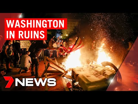 Washington riots: Destruction and looting just metres from the White House | 7NEWS