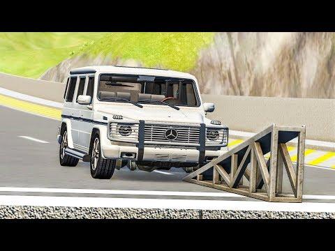 Barrel Roll Flip Ramp Crashes #8 - BeamNG Drive