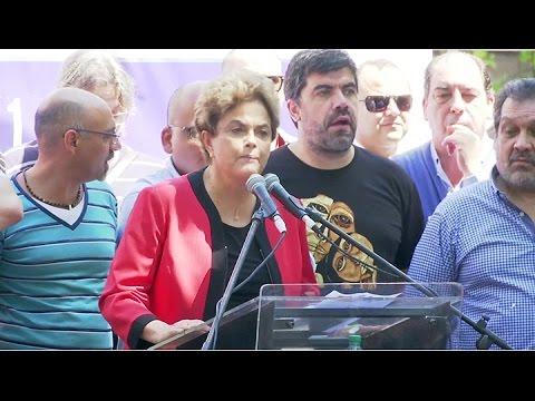 """Rousseff en Uruguay: """"La democracia de la región está en peligro y debe ser defendida"""""""