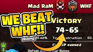 "WE BEAT WHF!! (Rising) - What Attacks To use in War! - ""Clash of Clans"""