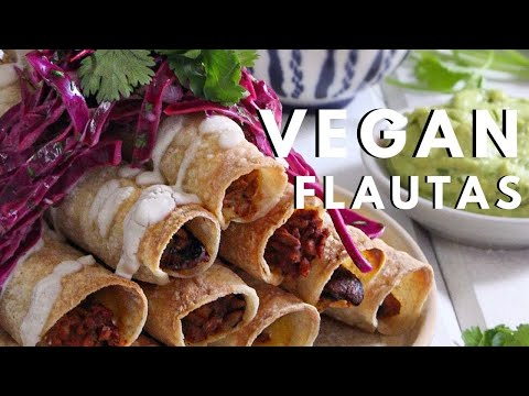 How to make flautas! VEGAN + GF