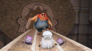 Despicable Me 2 Minion Temple Run EL Macho's Lair - Purple Evil Minion vs Ghost Minion
