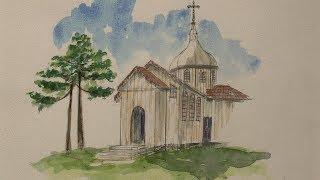 Exposição resgata arquitetura de moinhos e igrejas de todo o estado