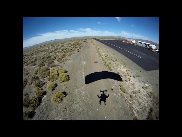 Skydive landing at Austin, NV Airport