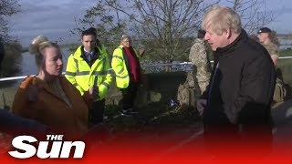 Boris Johnson told by flood victim areas of Yorkshire are
