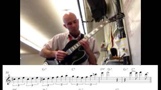 Transcription of richie cole's solo on 'i love lucy'