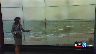 Time-lapse video of a seiche in St. Joesph