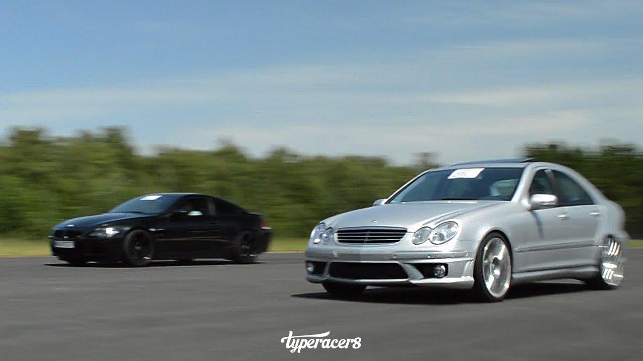 Insane mercedes benz c55 amg 650hp youtube for Mercedes benz c55 amg