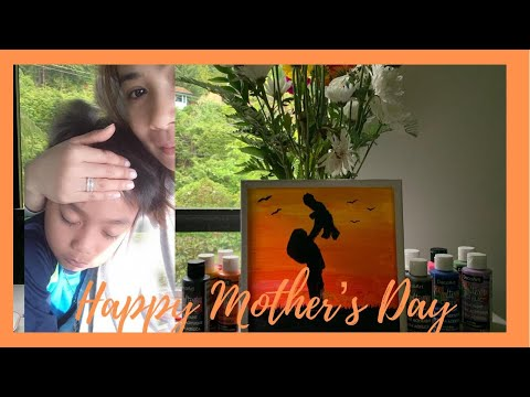 Happy Mother's day Acrylic Painting||Lyn Journey