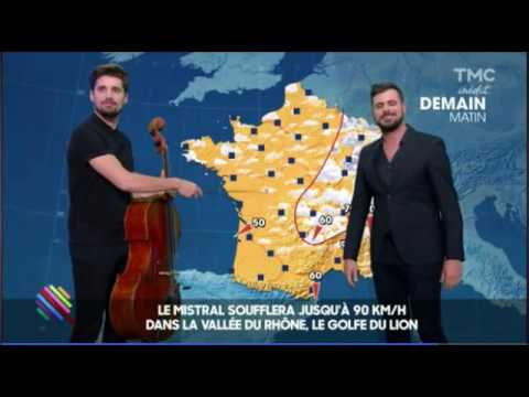 2CELLOS Reading Weather Forecast For France On Quotidien Show