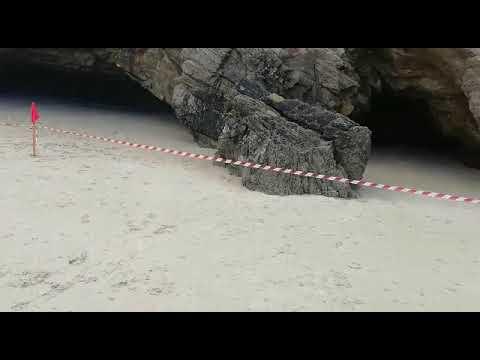 Desprendimiento de unas rocas en Barreiros