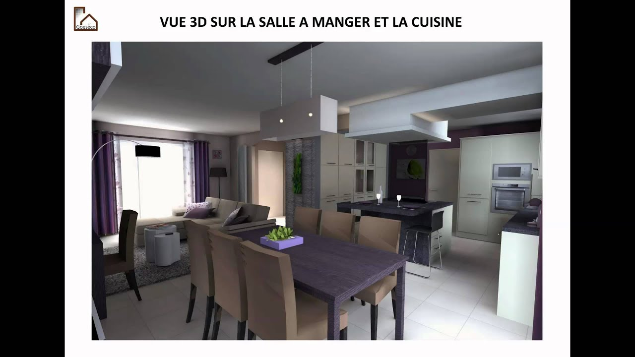 Une d co salon s jour cuisine zen youtube for Amenagement sejour cuisine 20m2