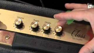 Marshall Class 5 amplifier demo with Les Paul