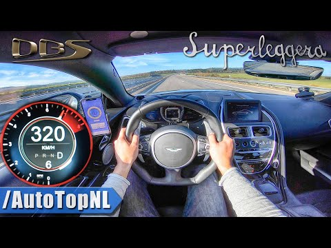 ASTON MARTIN DBS V12 Superleggera 320km/h on AUTOBAHN (NO SPEED LIMIT) by AutoTopNL