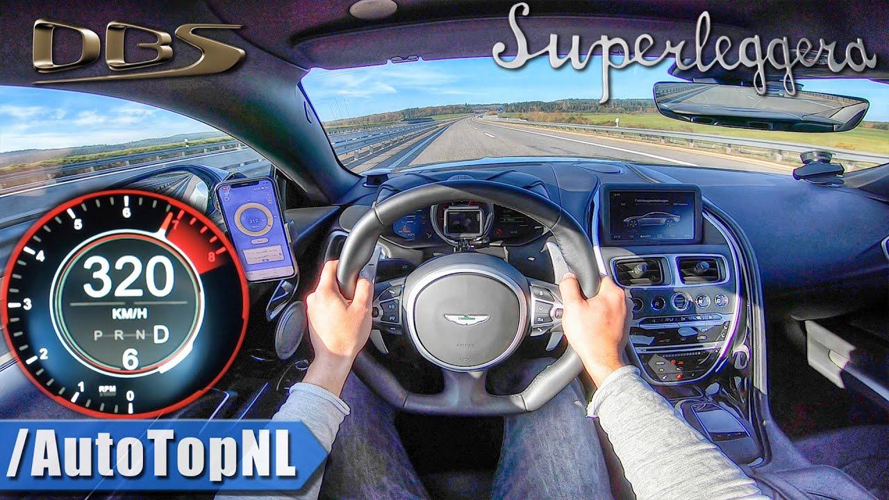 Aston Martin Dbs V12 Superleggera 320km H On Autobahn No Speed Limit By Autotopnl Youtube