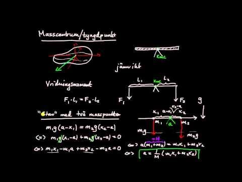 Tillämpningar av integraler del 10 - masscentrum, introduktion och härledning av formel